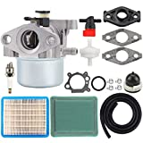 Hipa MIA11798 Carburetor + Air Filter Tune Up Kit for John Deere JS20 JS25 JS26 JS28 JS30 JS36 JS38 JM26 JM36 Mowmentum Walk-Behind Lawn Mower