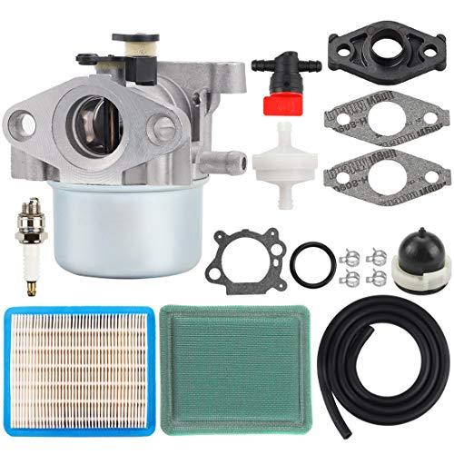 Hipa MIA11798 Carburetor + Air Filter Tune Up Kit Replacement for John Deere JS20 JS25 JS26 JS28 JS30 JS36 JS38 JM26 JM36 Mowmentum Walk-Behind Lawn Mower