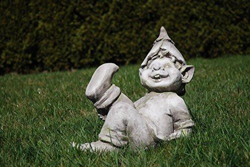 Unbekannt Gartenfigur Troll hebt den Fuss - Garten, Figur, Troll