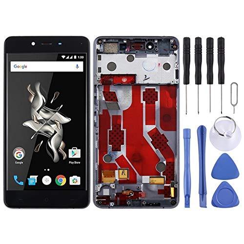 YCZLZ Pantalla Teléfono para One Plus Accesorios for móviles de Pantalla LCD y digitalizador Asamblea Completa con el capítulo for OnePlus X E1003 (Negro) + Herramientas (Color : Blanco)