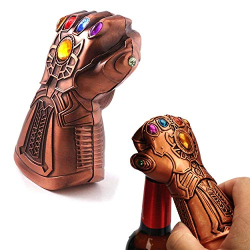 Beer Bottle Opener, Surcotto Thanos Gauntlet Glove Beer Bottle Opener for Any Avengers, Beer Wine Bottle Cap Remover Tool for Marvel Fans, Bar, Party, Beer Lovers