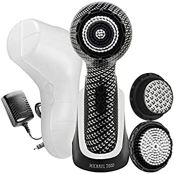 Michael Todd Beauty Soniclear Elite - Facial Cleansing Brush System - 6-Speed Sonic Powered Exfoliating Face & Body Brush
