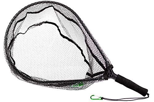 Zite Fishing Wat-Kescher Gummiert - Angelkescher, Spinnkescher & Fliegenkescher - 60x33cm mit Karabiner-Band zum Angeln