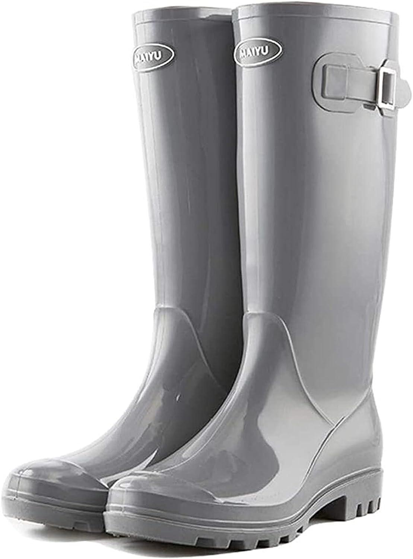 YIWANGO Women's Fashion Tall Tube New products world's highest quality popular Non-Slip Boots Waterproof Rain San Francisco Mall
