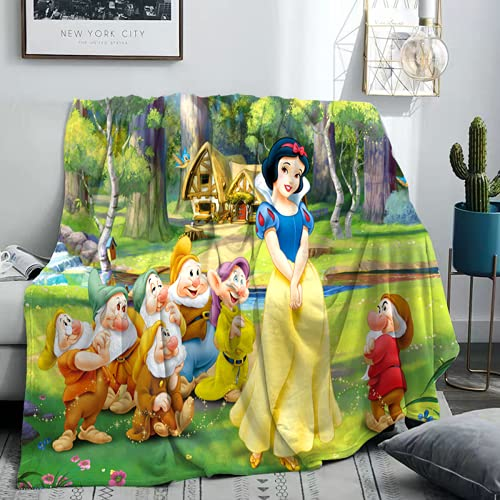 QWAS Manta suave de princesa Anna Sophia, Blancanieves, manta de sofá, manta de picnic (3,135 x 200 cm)