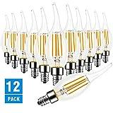 Dimmable LED Candelabra Bulb, Flame Tip Style,60 Watt Equivalent, 2700K Soft White, E12 Base, CRI 90+, Chandelier LED...