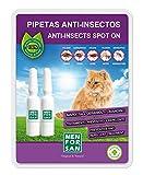 MENFORSAN Pipetas Anti-Insectos para Gatos con Margosa, Geraniol Y Lavandino, pack de 2 x 1.5 ml