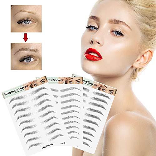 Augenbrauen Aufkleber, Tattoo Augenbrauen, Hair-Like Authentic Eyebrows, Imitation Ecological Semi Permanent 3D Effekt Tattoo Augenbrauen Aufkleber, Shaping Brow Falsche Augenbrauen für Frauen