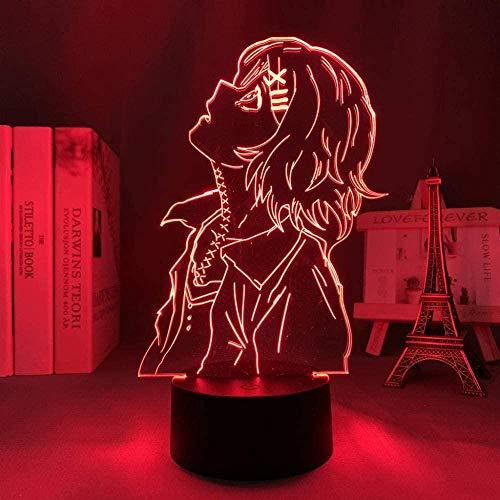 Luz Noturna Led 3D Illusion Luminária Usb Anime Tokyo Ghost Juuzou Suzuya Quarto Decoração Aniversário Presente-16 cores com controle remoto