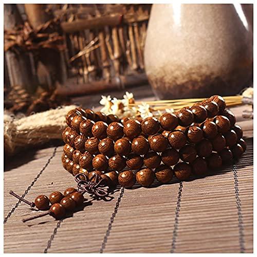 DONGYUCHUN Mujeres para Mujeres 108 Bead Sandalwood Mala Pulsera De Oración - Cuentas De Meditación De Yoga - Cuentas De Oración De Buda,10mm