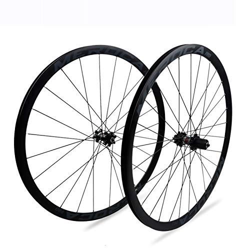Rueda de Bicicleta,700C Llanta de Doble Piso Aleación de Aluminio Admite Velocidad 7/8/9/10/11 Apto para Bicicletas Rueda de Liberación Rápida