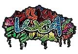 3D Wandtattoo Graffiti Wand Aufkleber Name LUCA Wanddurchbruch sticker selbstklebend Wandbild Wandsticker Jungenddeko Kinderzimmer 11U037, Wandbild Größe F:ca. 97cmx57cm