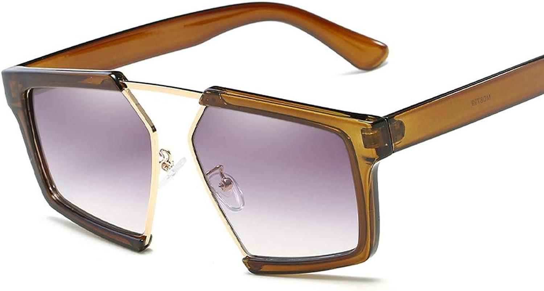 Sunglasses Retro Trend Sunglasses Large Frame Gradient Sunglasses New Unisex Sunshade Mirror Driving Glasses Multicolor Optional (color   F)
