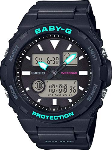 Casio Damen Analog-Digital Quarz Uhr mit Harz Armband BAX-100-1AER