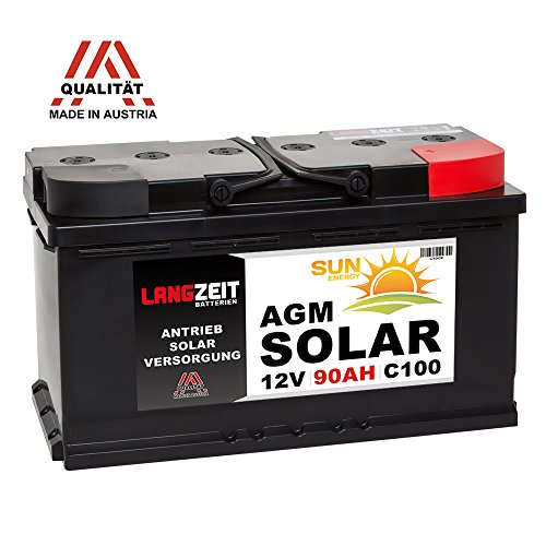 Solarbatterie 12V 90AH AGM GEL Batterie Wohnmobil Boot Mover Versorgungsbatterie Solar Akku 80Ah 85Ah