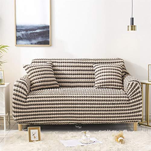 wjwzl Sofabezug für Chaiselongue, rutschfest, elastisch, Sofabezug für Wohnzimmer, 3 W