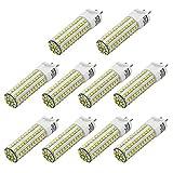 MENGS Paquete de 6 G12 Lámpara LED 10W LED Bombilla Blanco Cálido 800lm AC 85-265V 108x 2835 SMD