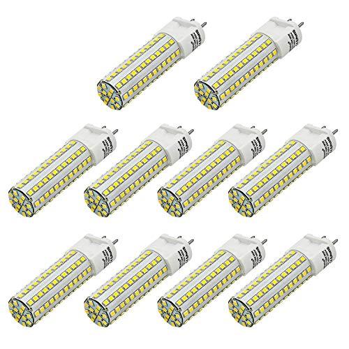 MENGS 10 Stück G12 LED Lampe 10W AC 85-265V Warmweiß 3000K 108X2835 SMD Mit Keramik und Aluminium Mantel