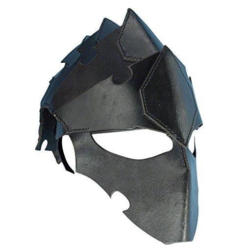 Armor Venue: Assasins Leather Helmet Head Armour Black Large