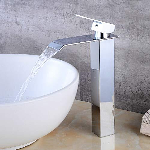 Aboyia - Grifo monomando para lavabo (latón cromado)