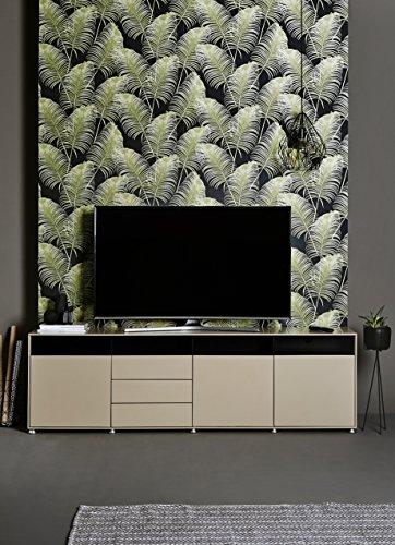 Jahnke Meuble TV TL 620.3, Bois, Marron, 45 x 200 x 61,5 cm