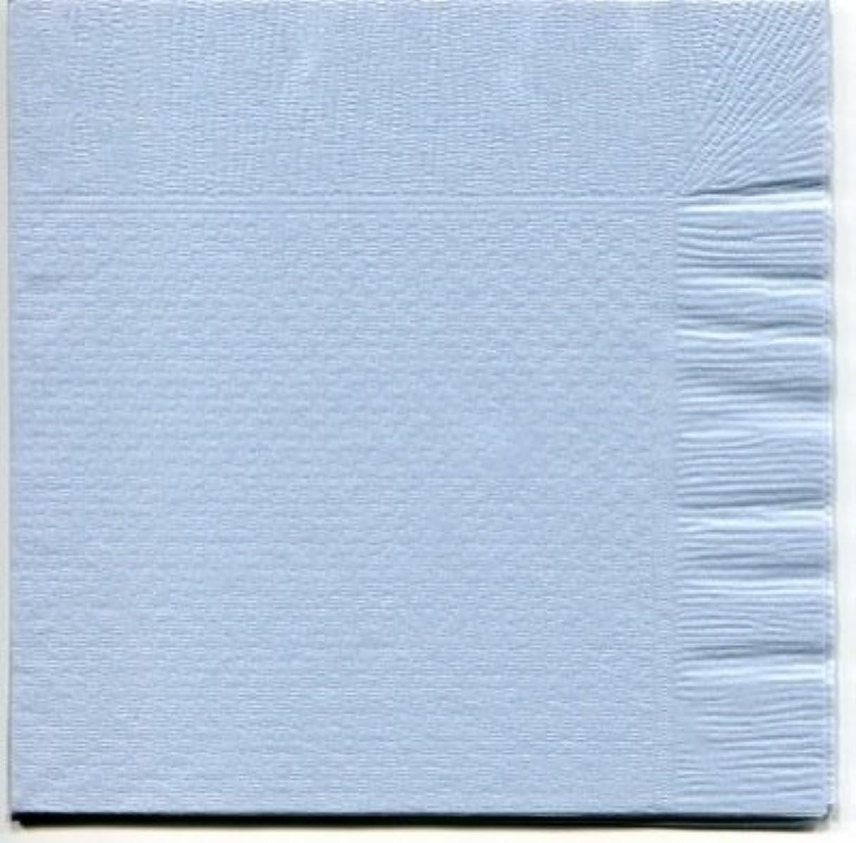 マトリックススカーフ消費するカラー4折紙ナプキン「ブルー」(100枚)