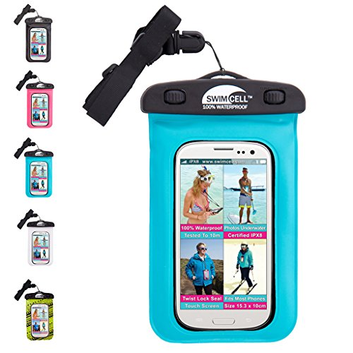 SwimCell Waterproof Phone Case for iphone 6, 7 plus,...