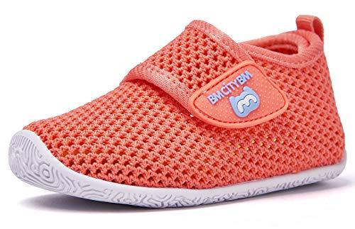 BMCiTYBM Baby Sneakers Girl Boy Tennis Shoes First Walker Shoes 12-18 Months Orange