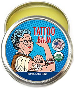 Barker Goods Organic Tattoo Balm – All Natural Tattoo Treatment Aftercare Cream - 100% Vegan Replacement for Petroleum-Based Products - Tattoo Salve that Soothes Moisturizes Protects & Heals