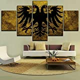 Modern Wall Art Framework Canvas HD Prints PaintingHome Decor Modular Picture 5 Panel Flags Of The Holy Roman Empire Poster