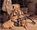 Pintar Por Números Perro Jugando Con Lana - Diy Pintura Al Óleo Digital Pintura Acrílica Set Niños Adultos Decoración Del Hogar Sin Marco 16x20 Pulgadas