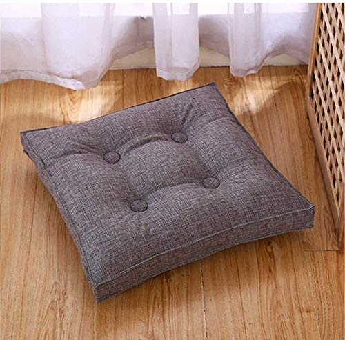 Dining Chair Seat Cushion Removable Cotton And Linen Fabric Garden Terrace Furniture Decorative Cushion Indoor Home Office Kitchen Chair Cushion Cushion (Color : Gray, Size : 50X50cm)