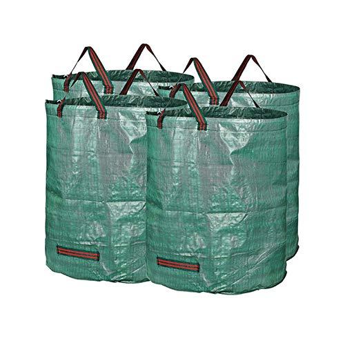 WZDD 4X Gartenabfallsäcke 50L/13Gallon, Gartensack Wiederverwendbar, Laubsack Selbstaufstellend, Abfallsäcke Gartenfaltbar - Für Rasen Pool Abfallbehälter