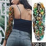Handaxian 3pcsNew 48 * 17cm Full Flower Arm Cross Rose Body Paint Tatuaje de Transferencia de Agua Set de Tatuaje 3pcs-16