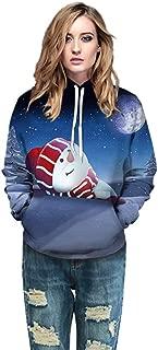 Couple's Christmas 3D Print Hooded Pullover Fashion Long Sleeve Sweatshirt Hoodies