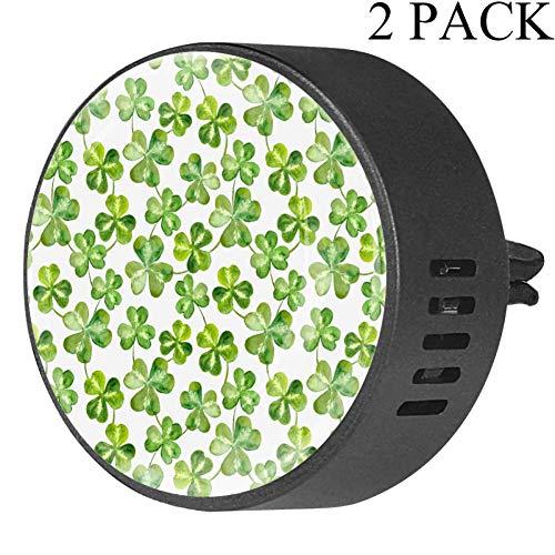 Trébol trébol hojas día Patrick - 2 clips ventilación
