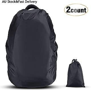 AGPTEK 2-Pack Nylon Waterproof Backpack Rain Cover,Pack Cover, Backpack Waterproof Cover for Hiking/Camping/Traveling/Outdoor Activities, Black,Size XS:10-17L S:18-25L M:26-40L L:41-55L