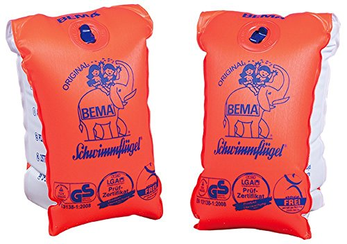 Happy People BEMA® Original Schwimmflügel, orange, Größe 00, bis 11 kg, 0-1 Jahr (3 Packungen)