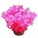 B bangcool Silicone Coral Plant Decorative Creative Sea Anemone for Aquarium Fish Tank Coral Decorations Artificial Corals Fish Tank Decorations Pink