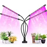 Plant Grow Light, Lamp for Plants, Newest 79 LEDs Full Spectrum Led Plant Grow Light, 10 Dimming Level & 4 Heads Grow Lamp with Timer 360°Adjustable Gooseneck, 9 Dimmable Levels, 3/6/12 H Timer