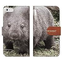 301-sanmaruichi- iPhone XR 手帳型 PUレザー iPhone xr ケース 手帳型 おしゃれ ウォンバット wonbat コアラ 動物 オーストラリア C 手帳ケース