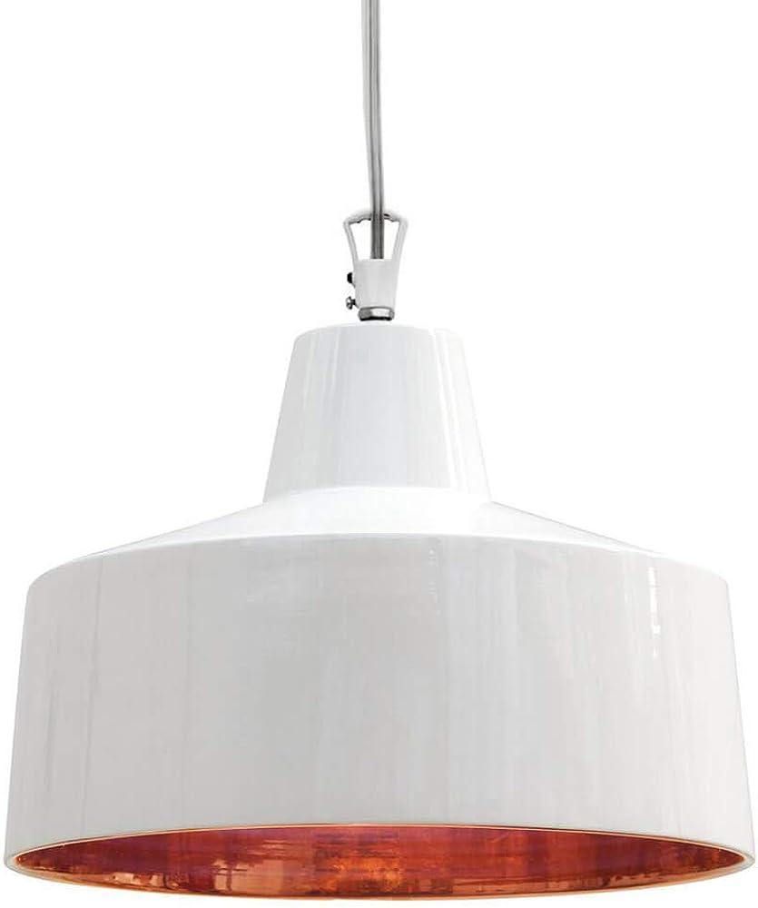 Karman gangster, lampada a sospensione Ø28 cm, con interno bronzo lucido e rosone in metallo SE644BR