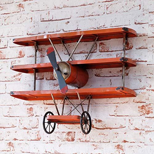 Rustieke Creatieve Wandstandaard, Interieur Display Stand Rack, Industriële Wind Ouderwetse Luchtvaartuig Hoofd Muurdecoratie Retro Luchtvaartuig Wing Wandpartities Wanddecoratie GLF