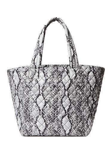 Mz Wallace Animal Print Medium Metro Tote Grey Gray Snake Light Handbag Bag NEW
