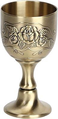 Copper Cup Metal Red Wine Goblet, Vintage Goblet for Home Decoration