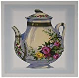 3dRose Victorian Floral Teapot - Greeting Cards, 6 x 6 inches, set of 6 (gc_43813_1)