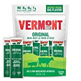 Vermont Smoke and Cure Original Mini Meat Stick Go Pack, Beef & Pork, Antibiotic Free, Gluten Free, (Packaging may vary), Cracked Pepper Beef & Pork, 0.5 Ounce (Pack of 6), 3 Ounce