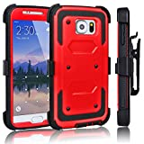 Best Galaxy S6 Active Case Supcases - Galaxy S6 Case, Tekcoo(TM) [TShell Series] [Red] Shock Review
