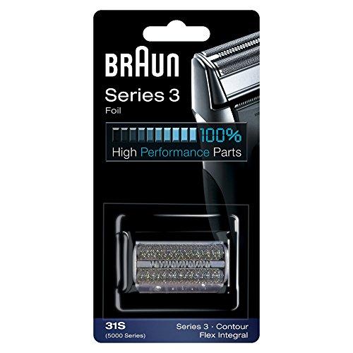 Braun Elektrorasierer Ersatzscherteil 31S, kompatibel mit Series 3 Rasierern, silber