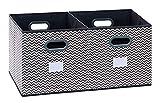 homyfort Caja de Almacenaje con 2 pcs, Set de 2 Cajas de Juguetes, Caja de Tela...